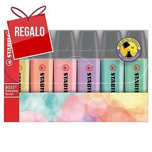 Pack de 6 marcadores fluorescentes Stabilo Boss - surtido pastel