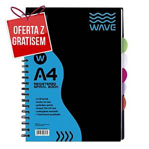 Kołozeszyt z zakładkami WAVE, A4, 120 kartek