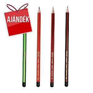 Scolair ceruza - H, HB, B, 2B, törésálló hegy, 4 db