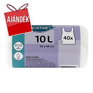 Beköthető szemeteszsákok, fehér 10 l, 40 darab/csomag