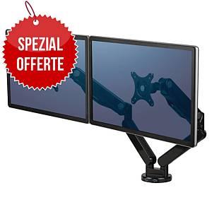 Dual Monitor Arme Fellowes Platinum Series™, Aluminium, schwarz