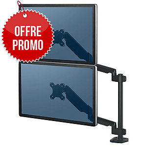 BRAS PORTE ECRAN DOUBLE VERTICAL PLATINUM SERIES FELLOWES
