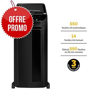 Destructeur Fellowes AutoMax™ 550C - coupe croisée