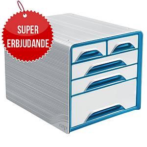 Lådsystem Cep Smoove Classic, 5 lådor, vitt/blått