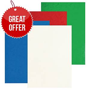 Pavo Glossy Leather Covers Assorted 8013432 Pack of 100