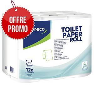 Papier toilette Lyreco - 2 plis - 12 rouleaux