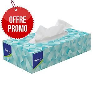 Mouchoir en papier Lyreco - boîte distributrice rectangulaire de 100