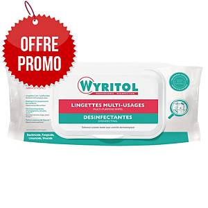 Lingette désinfectante multi-usages Wyritol - paquet de 50