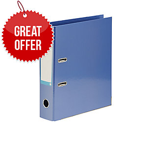 Elba A4Xl Classy Lever Arch File Paper-On-Board Metallic Blue