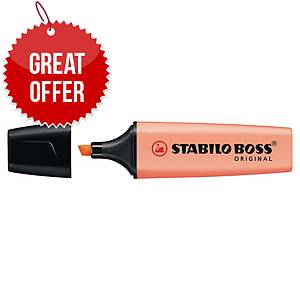 Stabilo Boss Original Pastel Highlighter Pack of 10 Creamy Peach