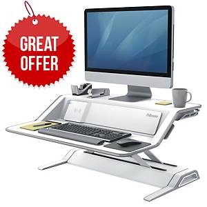 FELLOWES LOTUS SIT-STAND WORKSTATION WH