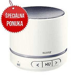Leitz WOW prenosný Bluetooth reproduktor, biely