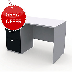 DESUKU FX1203-1 OFFICE TABLE 120X80X75 CM LEFT