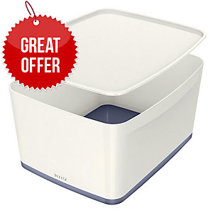 Leitz Mybox® Large 18 Litre With Lid, Storage Box, Grey