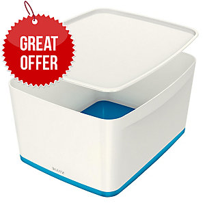 Leitz Mybox® Large 18 Litre With Lid, Storage Box, Blue