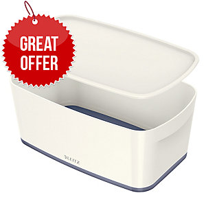 Leitz Mybox® Small 5 Litre With Lid, Storage Box - Grey