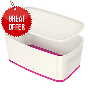 Leitz Mybox® Small 5 Litre With Lid, Storage Box - Pink