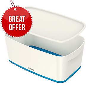 Leitz Mybox® Small 5 Litre With Lid, Storage Box - Blue