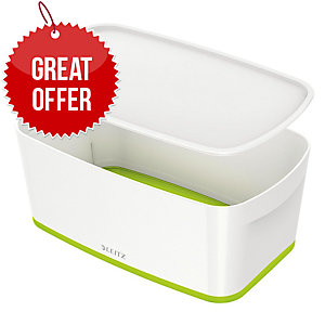 Leitz Mybox® Small 5 Litre With Lid, Storage Box - Green