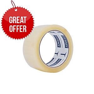 CIC APOLLO OPP CLEAR PACKING TAPE 72MM X 83M - PACK OF 4