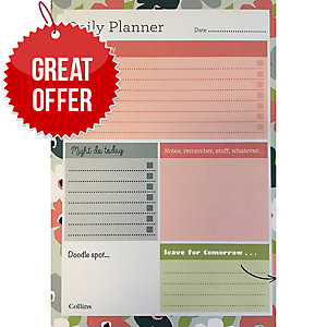 COLLINS WEEKLY DESK PLANNER BLOSSOM A5