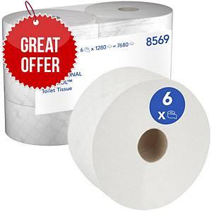 Scott Control Toilet Tissue 8569 - 6 rolls x 1,280 white, 2 ply sheets