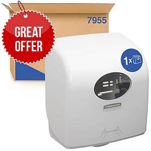 Aquarius Slimroll Rolled Hand Towel Dispenser 7955 - White