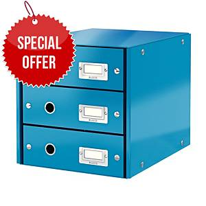 LEITZ CLICK & STORE 3-DRAWER BLUE