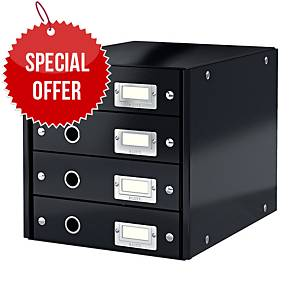 LEITZ CLICK & STORE 4-DRAWER BLACK