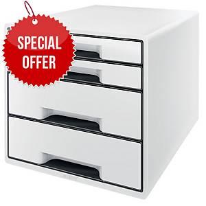 LEITZ B&W BOX 4-DRAWER UNIT WHITE