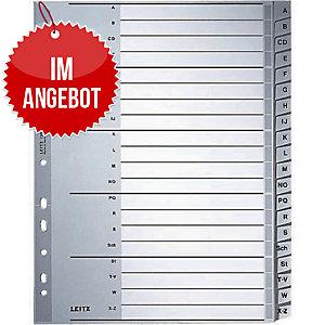 Register Leitz 1260, A-Z, A4, aus Kunststoff, 20 Blatt, grau