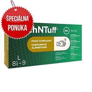 Jednorazové latexové rukavice Ansell TouchNTuff® 69-210, veľkosť 6.5-7, 100ks