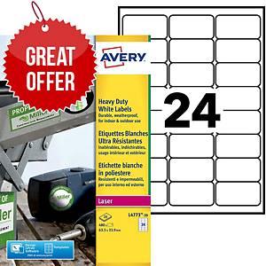 Avery L4773 weatherproof heavy duty labels 63,5x33,9mm - box of 480