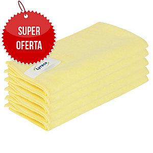 Ściereczki z mikrofibry LYRECO PRO, żółte, 40 x 40 cm, 5 sztuk