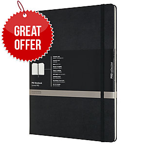 MOLESKINE PROPFN HARD COVER NOTEBOOK XXL RULED BLACK