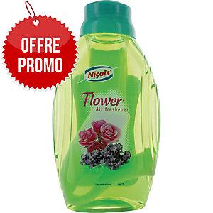 Désodorisant Nicols Eco - longue durée - fleurs - flacon mèche de 375 ml