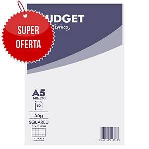 Blok z okładką Lyreoco Budget, A5, kratka, 50 kartek