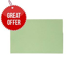 Guildhall Full Flap File Green Pack of 50