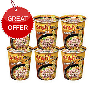 MAMA INSTANT NOODLES CUP PORK PACK OF 6