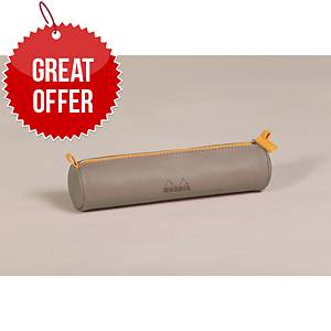 Rhodia 318894C Round Pencil Case Taupe
