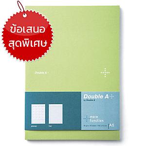 DOUBLE A สมุดบันทึกแพลนเนอร์ DA+ A5 80แกรม 40แผ่น สีเขียว