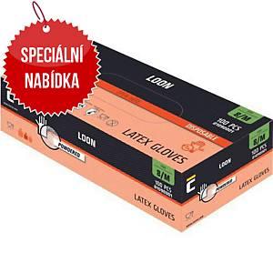 Jednorázové latexové rukavice CERVA LOON, velikost S, 100 kusů