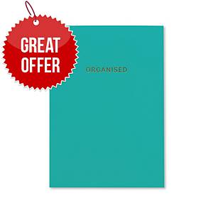 Go Stationery Undated Desk Diary A5 Teal