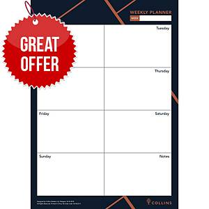 Collins Vanguard Weekly Desk Planner A4