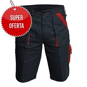 Szorty CERVA Max, czarno-czerwone, rozmiar 56
