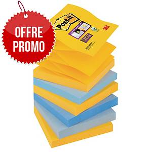 Z-Notes Post-it Super Sticky - 76 x 76 mm - New York - 6 blocs x 90 feuilles