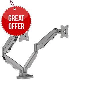 Fellowes 9683301 Eppa Dual Monitor Arm Silver