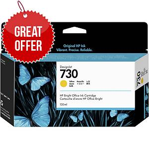 HP 730 Inkjet Cartridge Yellow (P2V70A)