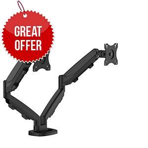 Fellowes 9683401 Eppa Dual Monitor Arm Black