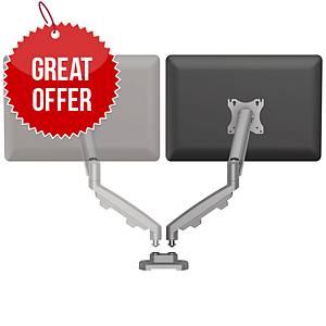 Fellowes 9683701 Eppa Dual Arm Kit Silver